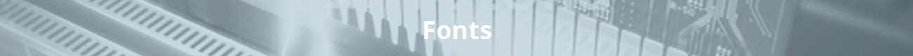 Fonts information header image