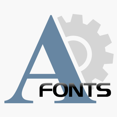 Fonts icon product for shop